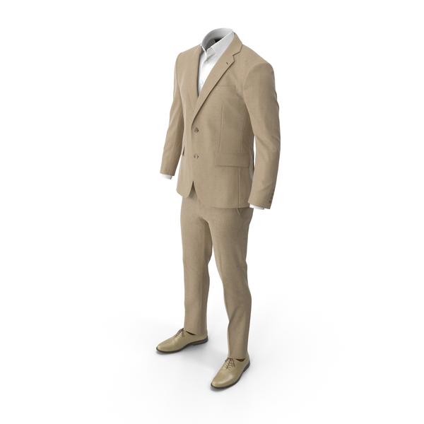 Men's Suit Beige PNG & PSD Images