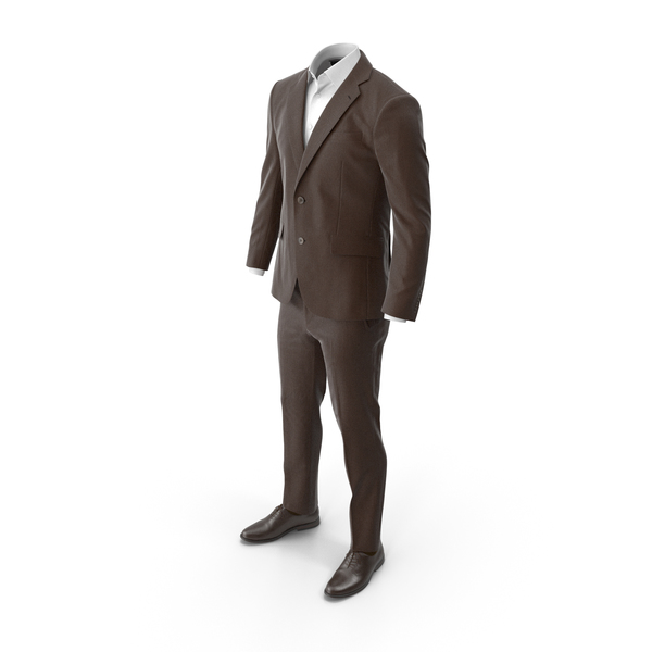 Clothing: Men's Suit Brown PNG & PSD Images