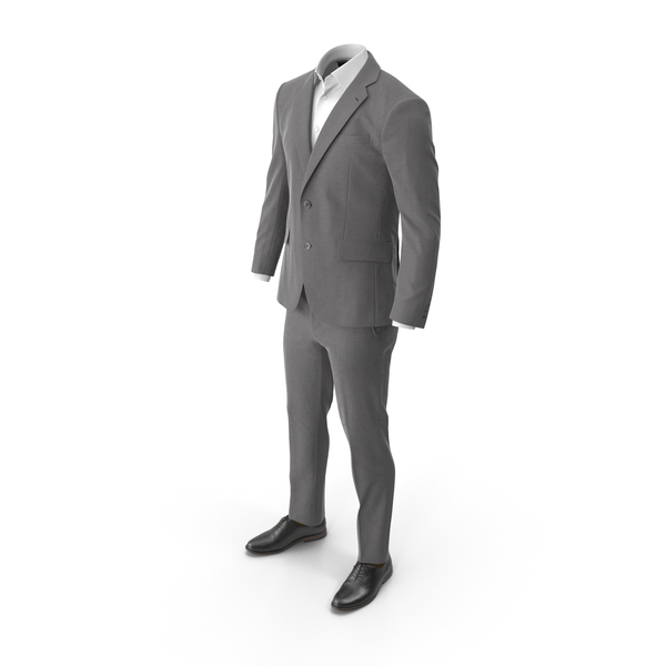 Clothing: Men's Suit Grey PNG & PSD Images