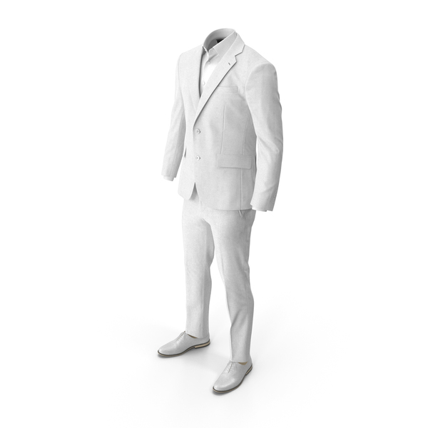 Clothing: Men's Suit White PNG & PSD Images