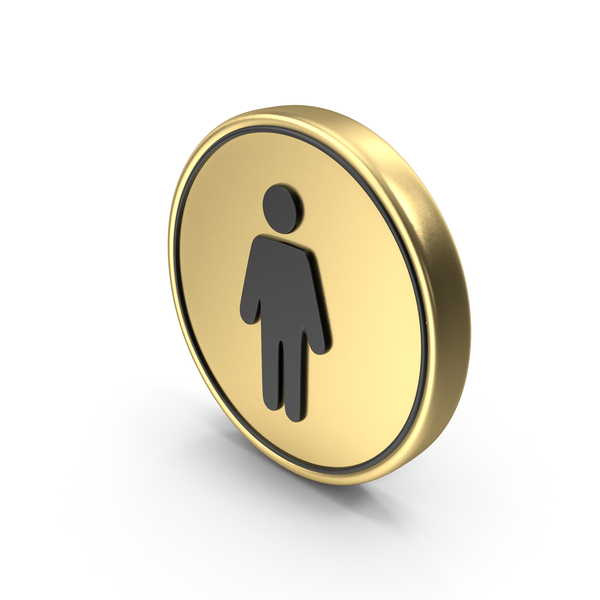 Men's Symbol Coin Logo Icon PNG & PSD Images