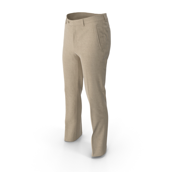 Men's Trousers Yellow PNG & PSD Images
