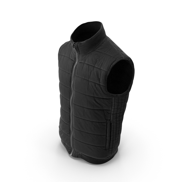Waistcoat: Men's Vest Black PNG & PSD Images