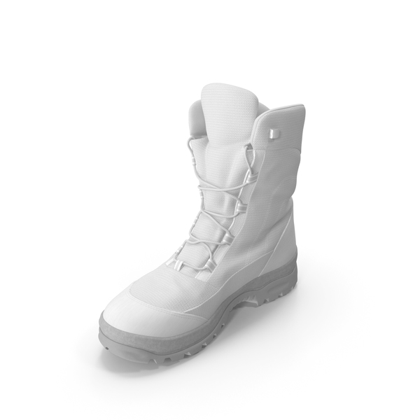 Men's Winter Boots White PNG & PSD Images