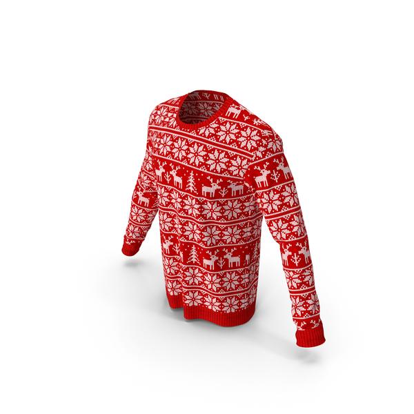 Men Winter Round Neck Sweatshirt PNG & PSD Images