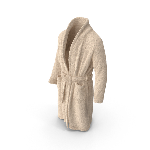 Mens Bathrobe Beige PNG & PSD Images