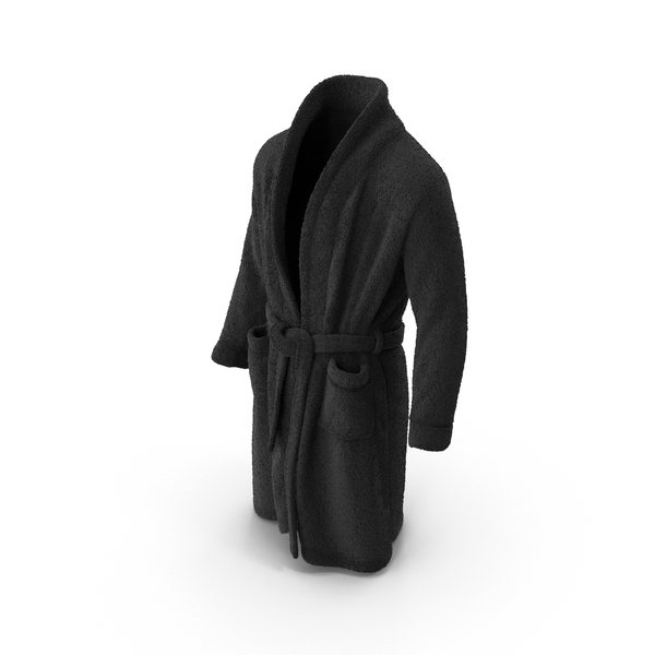 Mens Bathrobe Black PNG & PSD Images