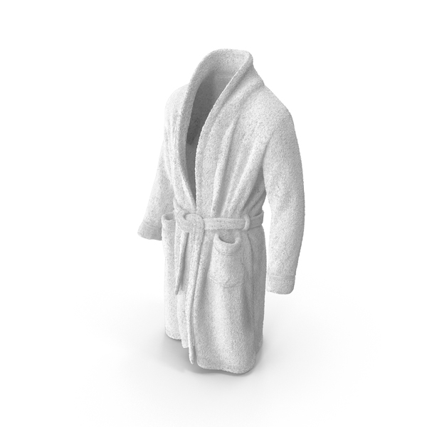 Mens Bathrobe White PNG & PSD Images