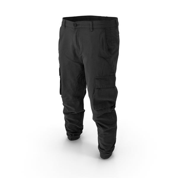 Mens Black Cargo Pants PNG & PSD Images