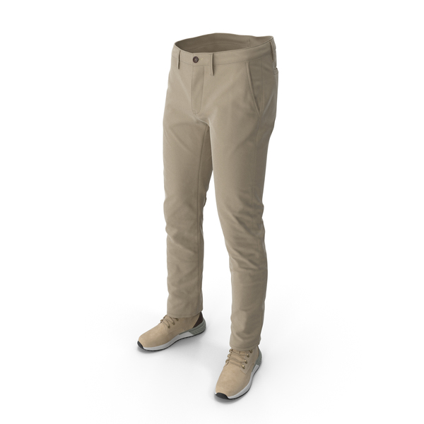 Clothing: Mens Boots Pants Beige PNG & PSD Images