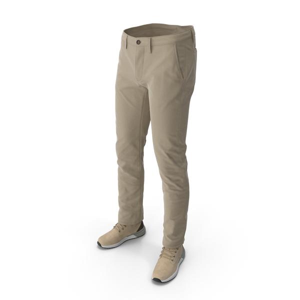 Mens Boots Pants Beige PNG & PSD Images