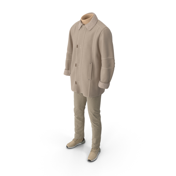 Mens Boots Pants Coat Pullover Beige PNG & PSD Images