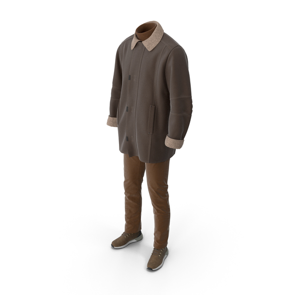 Clothing: Mens Boots Pants Coat Pullover Brown PNG & PSD Images