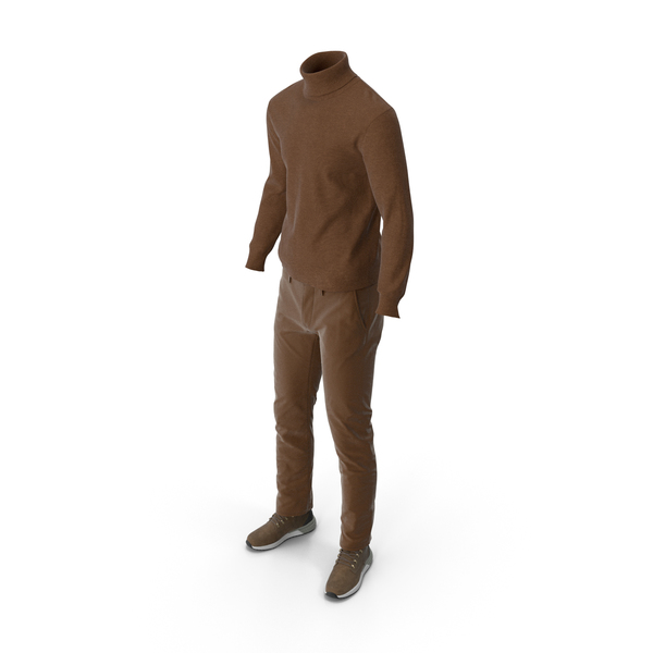 Clothing: Mens Boots Pants Pullover Brown PNG & PSD Images