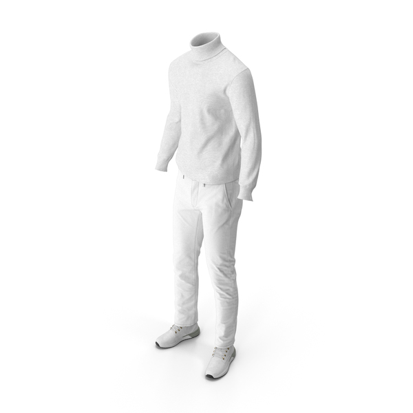 Clothing: Mens Boots Pants Pullover White PNG & PSD Images