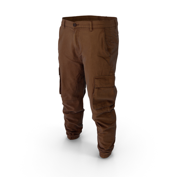 Mens Brown Cargo Pants PNG & PSD Images