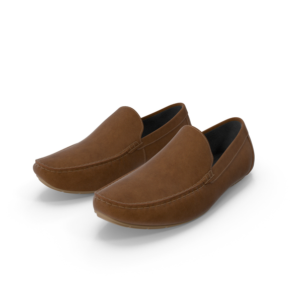 Men's Shoes: Mens Brown Casual Style Moccasins PNG & PSD Images