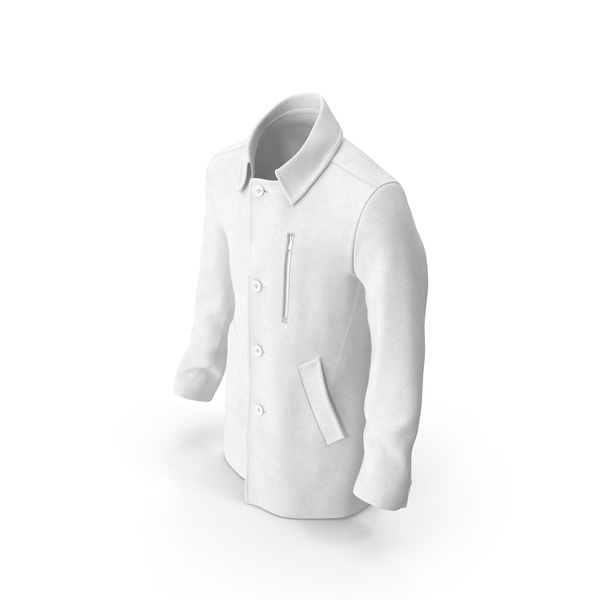 Mens Coat White PNG & PSD Images