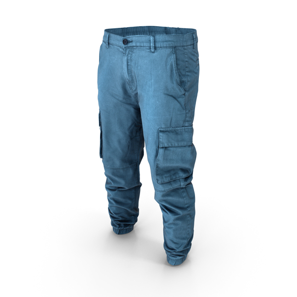 Mens Denim Cargo Pants PNG & PSD Images