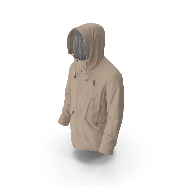 Mens Down Coat Beige PNG & PSD Images
