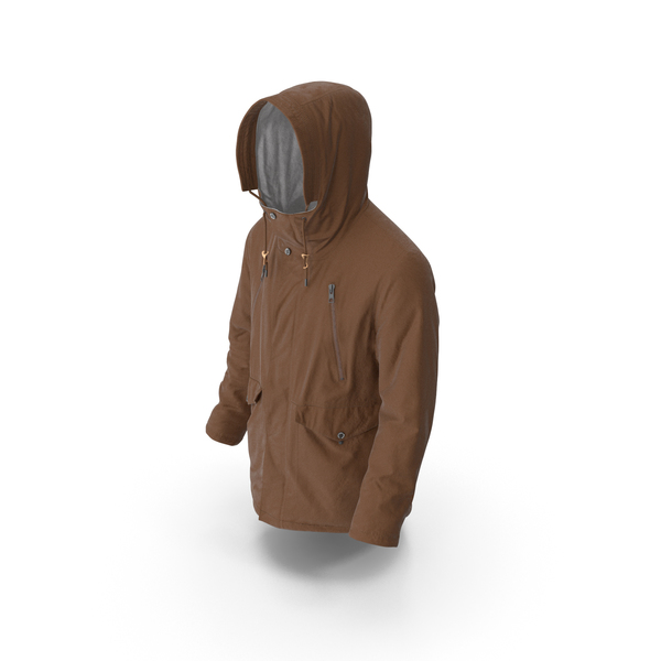 Mens Down Coat  Brown PNG & PSD Images