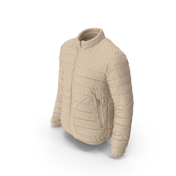 Mens Down Jacket Beige PNG & PSD Images