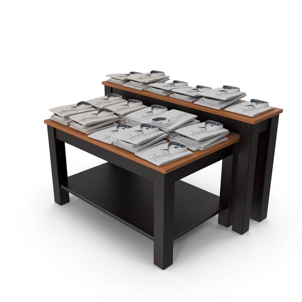 Mens Formal Shirt Display Table PNG & PSD Images