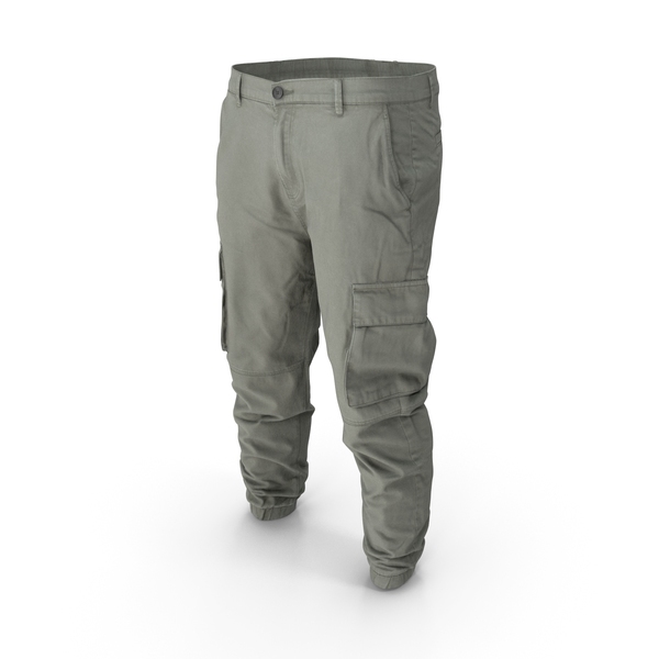 Mens Grey Cargo Pants PNG & PSD Images