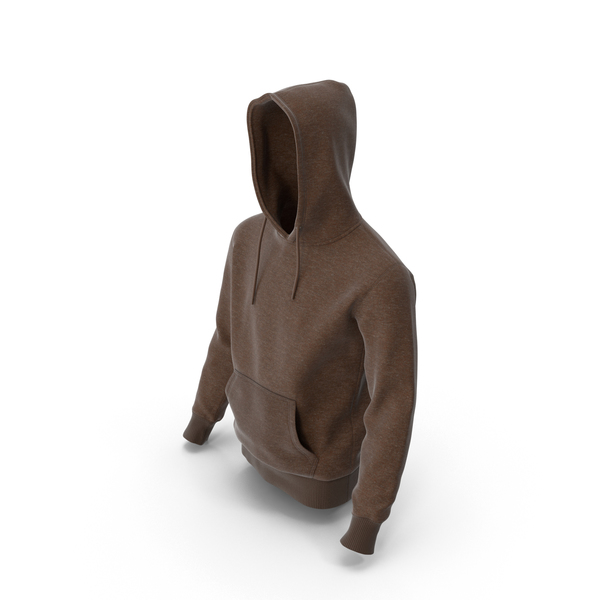 Mens Hoody Brown PNG & PSD Images