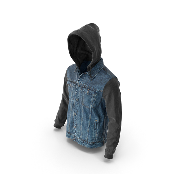 Mens Jean Jacket Dark Blue Black PNG & PSD Images