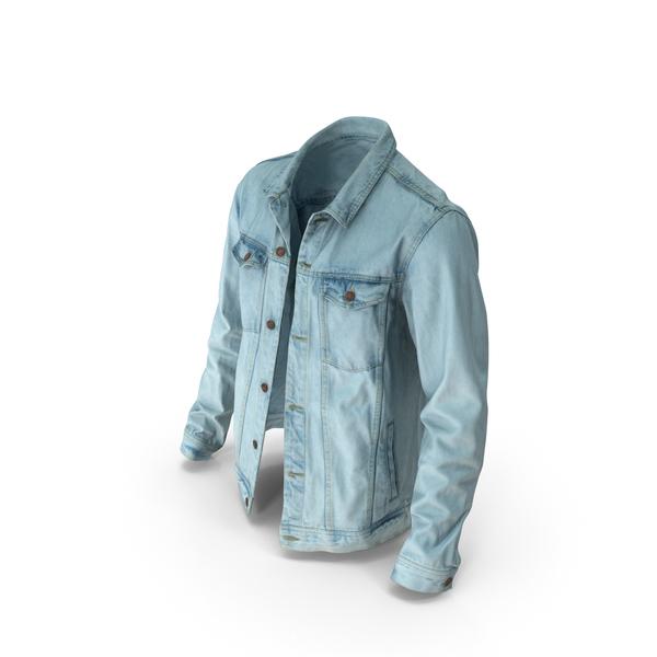 Mens Jean Jacket Light Blue PNG & PSD Images