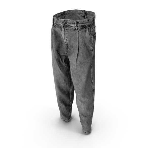 Mens Jeans Grey PNG & PSD Images