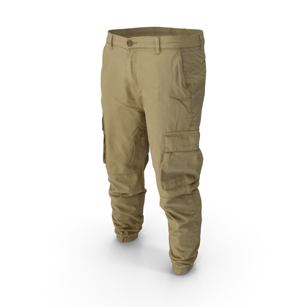Mens Khaki Cargo Pants PNG & PSD Images