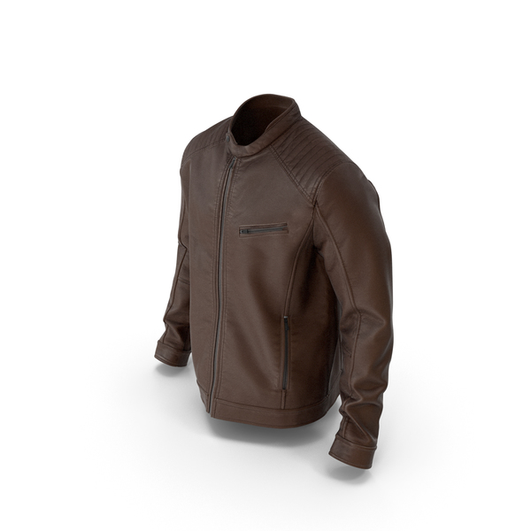 Mens Leather Jacket  Brown PNG & PSD Images