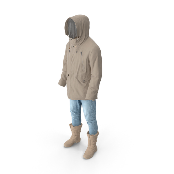 Mens Pants Boots Pullover Coat Beige PNG & PSD Images
