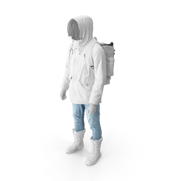 Mens Pants Boots Pullover Coat Gloves Backpack White PNG & PSD Images