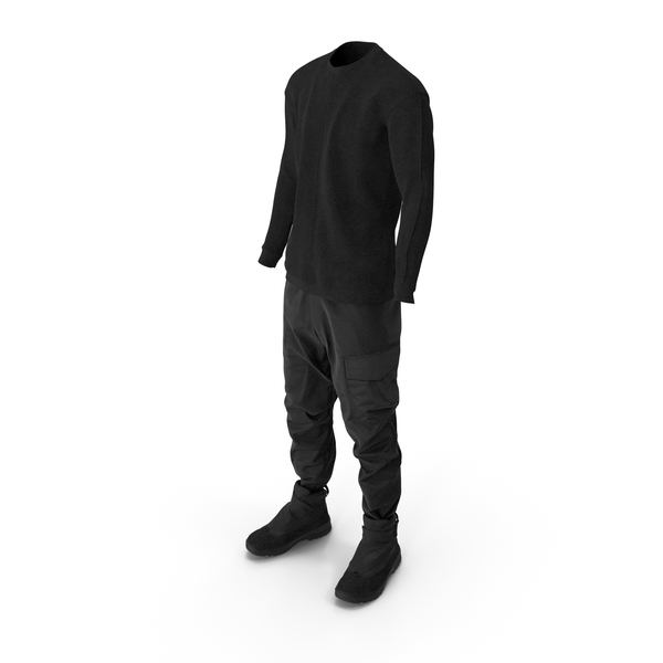 Clothing: Mens Pants Pullover and Boots PNG & PSD Images