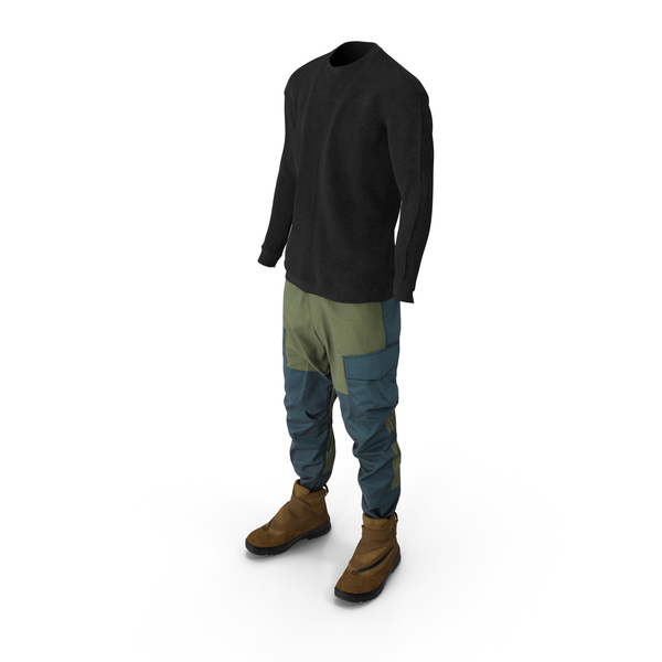 Mens Pants Pullover Boots PNG & PSD Images