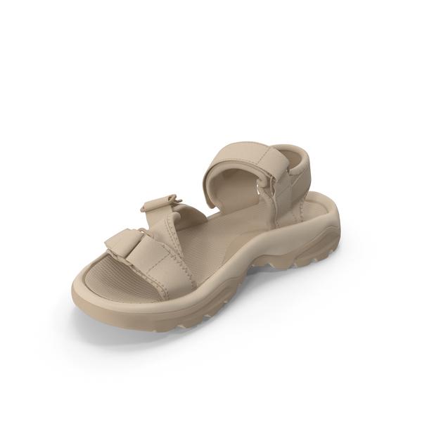Mens Sandals Beige PNG & PSD Images