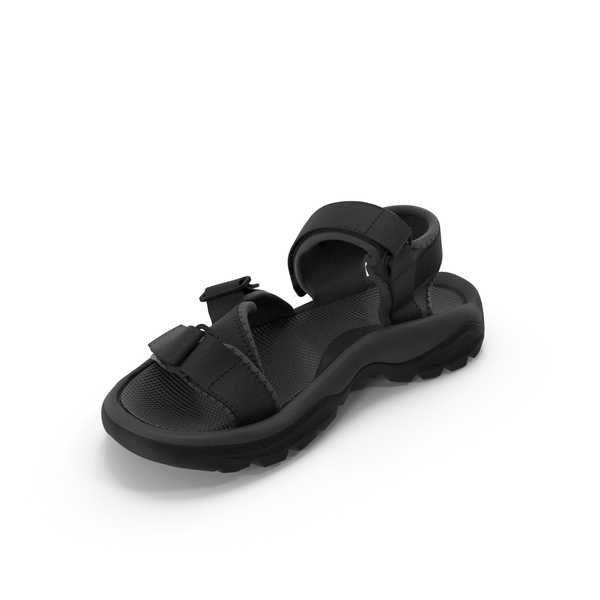 Mens Sandals Black PNG & PSD Images