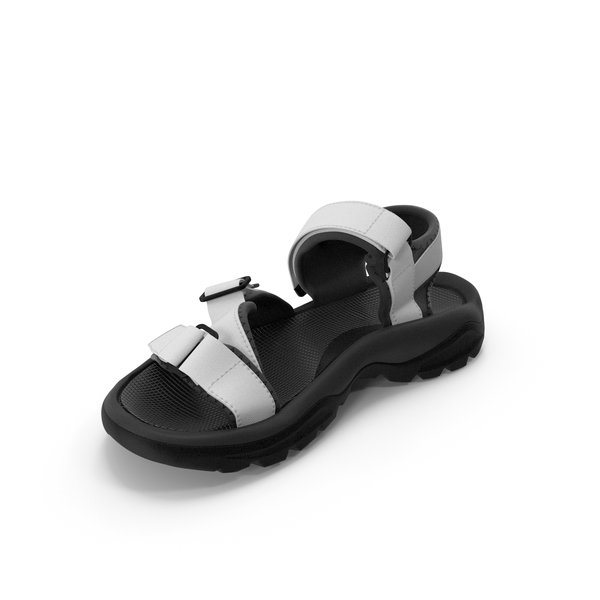 Mens Sandals Black White PNG & PSD Images
