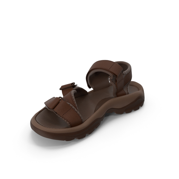 Mens Sandals Brown PNG & PSD Images