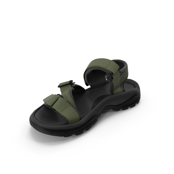 Mens Sandals Green PNG & PSD Images