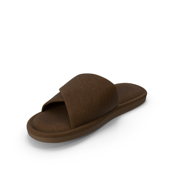 Slipper: Mens Slippers Brown PNG & PSD Images