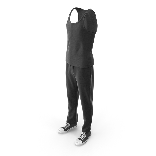 Mens Sport Clothing Black PNG & PSD Images