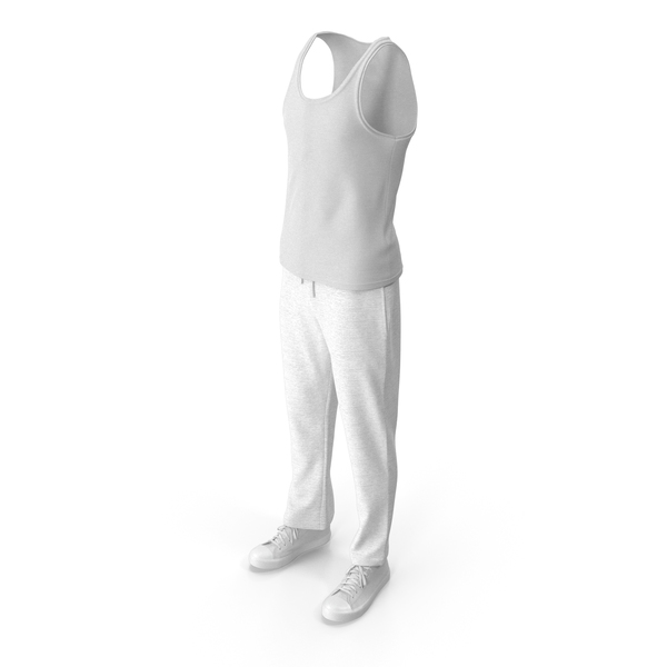 Mens Sport Clothing White PNG & PSD Images