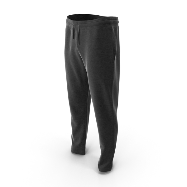 Mens Sport Pants Black PNG & PSD Images