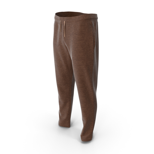 Mens Sport Pants Brown PNG & PSD Images