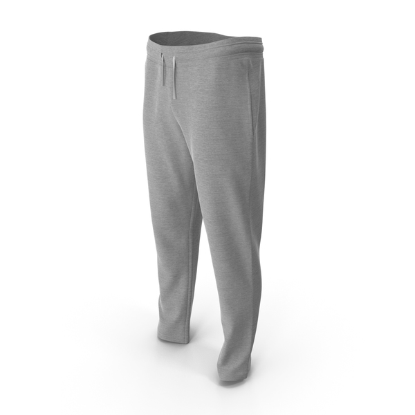 Mens Sport Pants Grey PNG & PSD Images