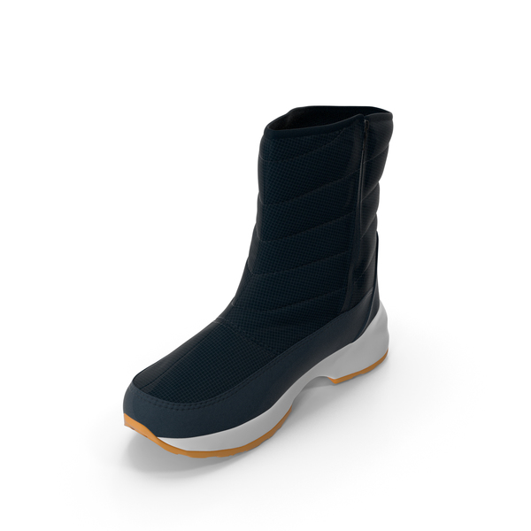 Snow: Mens Winter Boots Dark Blue PNG & PSD Images